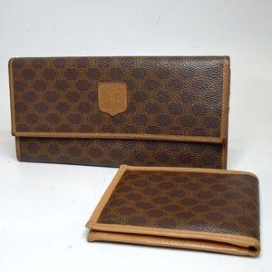 CELINE Macadam 2 piece set purse wallet-His & Hers